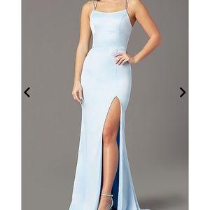 Long open-back prom dress